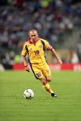 24 Jun 2000:  Gheorghe Hagi of Romania in action during the European Championships 2000 Quarter Final at the King Baudouin Stadium, Brussels, Belgium. Italy won 2-0. \ Mandatory Credit: Graham Chadwick /Allsport