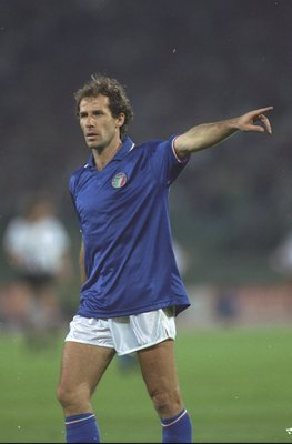 9 Jun 1990:  Franco Baresi of Italy in action during the World Cup match against Austria at the Olympic Stadium in Rome. Italy won the match 1-0.  \ Mandatory Credit: David  Cannon/Allsport