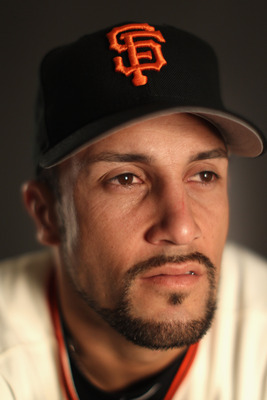 SCOTTSDALE, AZ - FEBRUARY 23:  Andres Torres #56 of the San Francisco Giants poses for a portrait during media photo day at Scottsdale Stadium on February 23, 2011 in Scottsdale, Arizona.  (Photo by Ezra Shaw/Getty Images)