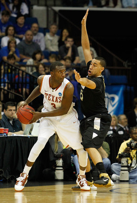 TULSA, OK - MARCH 18:  Jordan Hamilton #3 of the Texas Longhorns looks to move the ball against the Oakland Golden Grizzlies during the second round of the 2011 NCAA men's basketball tournament at BOK Center on March 18, 2011 in Tulsa, Oklahoma.  (Photo b