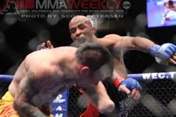 "Demetrious ""Mighty Mouse"" Johnson pushing the tempo"