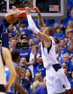 DALLAS, TX - MAY 17:  Tyson Chandler #6 of the Dallas Mavericks dunks the ball in the first quarter while taking on the Oklahoma City Thunder in Game One of the Western Conference Finals during the 2011 NBA Playoffs at American Airlines Center on May 17,