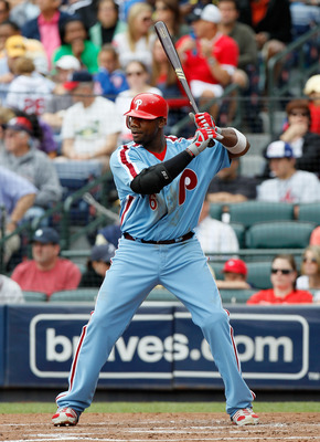 ATLANTA, GA - MAY 15:  Ryan Howard #6 of the Philadelphia Phillies against the Atlanta Braves at Turner Field on May 15, 2011 in Atlanta, Georgia.  (Photo by Kevin C. Cox/Getty Images)