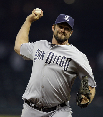 HOUSTON - APRIL 15:  Pitcher Heath Bell #21 of the San Diego Padres throws in the ninth inning against the Houston Astros at Minute Maid Park on April 15, 2011 in Houston, Texas.  (Photo by Bob Levey/Getty Images)