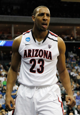TULSA, OK - MARCH 18:  Derrick Williams #23 of the Arizona Wildcats reacts to a play against the Memphis Tigers during the second round of the 2011 NCAA men's basketball tournament at BOK Center on March 18, 2011 in Tulsa, Oklahoma.  (Photo by Tom Penning