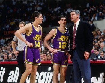 Hornacek (left) and Stockton (center)