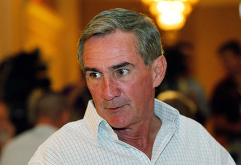 NEW ORLEANS, LA - MARCH 22: Washington Redskins head coach Mike Shanahan answers questions from the media during the NFL Annual Meetings at the Roosevelt Hotel on March 22, 2011 in New Orleans, Louisiana. Despite a NFL owners imposed lockout in effect sin