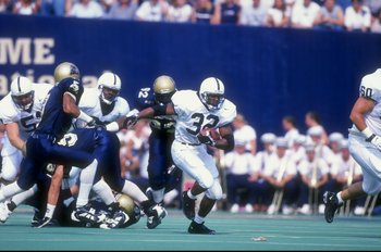 19 Sep 1998:  Tailback Cordell Mitchell #32 of the Penn State Nittany Lions in action during a game against the Pittsburgh Panthers at the Pitt Stadium in Pittsburgh, Pennsylvania. The Nittany Lions defeated the Panthers 20-13. Mandatory Credit: Rick Stew