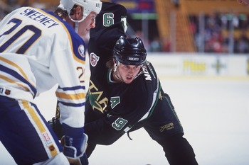 "Mike Modano, shortly prior to his appearance in ""The Mighty Ducks."""