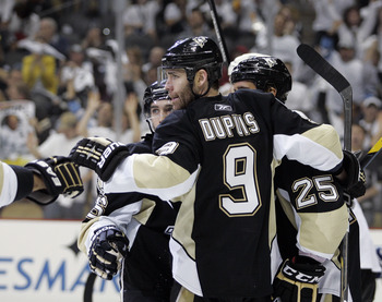 Bylsma's systems rely on speed. Pascal Dupuis and Max Talbot are flush with it.