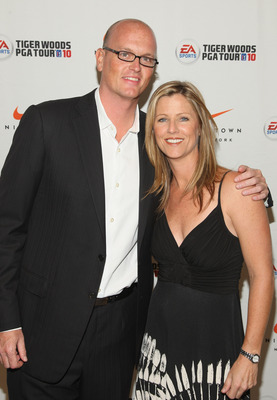 NEW YORK - JUNE 25:  Sportscaster Scott Van Pelt and Kelly Tilghman attend EA SPORTS Tiger Woods PGA TOUR 10 Party at NikeTown on June 25, 2009 in New York City.  (Photo by Stephen Lovekin/Getty Images for EA Sports)