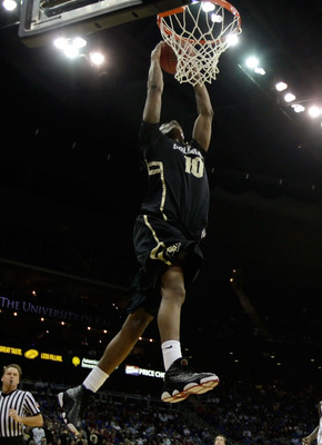 KANSAS CITY, MO - MARCH 11:  Alec Burks #10 of the Colorado Buffaloes dunks the ball against the Kansas Jayhawks during their semifinal game in the 2011 Phillips 66 Big 12 Men's Basketball Tournament at Sprint Center on March 11, 2011 in Kansas City, Miss