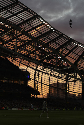 DUBLIN, IRELAND - MAY 18:  A view of the stadium during the UEFA Europa League Final between FC Porto and SC Braga at Dublin Arena on May 18, 2011 in Dublin, Ireland.  (Photo by Scott Heavey/Getty Images)