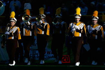 TEMPE, AZ - DECEMBER 31:  The Minnesota Golden Gophers marching band performs before the Insight Bowl against the Iowa State Cyclones at Arizona Stadium on December 31, 2009 in Tempe, Arizona.  The Cyclones defeated the Golden Gophers 14-13.  (Photo by Ch
