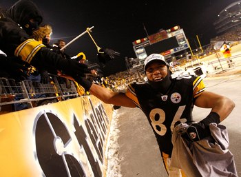 Former Super Bowl MVP Hines Ward smiling his way back to the Super Bowl after defeating the Ravens