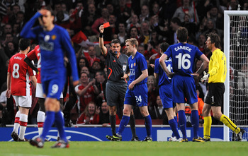 Darren Fletcher's dismissal in the semi-final with Arsenal in 2009 cost him a place in the final versus Barcelona that year.