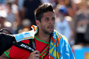 MELBOURNE, AUSTRALIA - JANUARY 23:  Fernando Verdasco of Spain walks off court after losing his fourth round match against Tomas Berdych of the Czech Republic during day seven of the 2011 Australian Open at Melbourne Park on January 23, 2011 in Melbourne,
