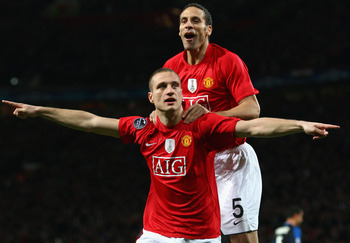 Barcelona will have faced few defensive pairings as solid as that of Rio Ferdinand and Nemanja Vidic