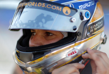 FORT WORTH, TX - JUNE 04:  Simona De Silvestro of Switzerland, driver of the #78 Team Stargate Worlds HVM Racing Dallara Honda, prepares to qualify for the IZOD IndyCar Series Firestone 550k at Texas Motor Speedway June 4, 2010 in Fort Worth, Texas.  (Pho