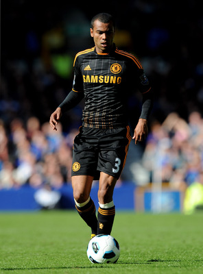 LIVERPOOL, ENGLAND - MAY 22:  Ashley Cole of Chelsea in action during the Barclays Premier League match between Everton and Chelsea at Goodison Park on May 22, 2011 in Liverpool, England.  (Photo by Chris Brunskill/Getty Images)