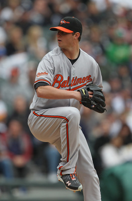 CHICAGO, IL - MAY 01: Starting pitcher Zach Britton #53 of the Baltimore Orioles delivers the ball against the Chicago White Sox at U.S. Cellular Field on May 1, 2011 in Chicago, Illinois. The Orioles defeated the White Sox 6-4. (Photo by Jonathan Daniel/