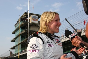 Pippa Mann at Indy, May 2011/IndyCarMedia.com