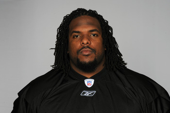 PITTSBURGH, PA - CIRCA 2010: In this handout image provided by the NFL, Willie Colon of the Pittsburgh Steelers poses for his 2010 NFL headshot circa 2010 in Pittsburgh, Pennsylvania. (Photo by NFL via Getty Images)