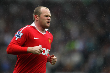 BLACKBURN, ENGLAND - MAY 14:  Wayne Rooney of Manchester United in action during the Barclays Premier League match between Blackburn Rovers and Manchester United at Ewood park on May 14, 2011 in Blackburn, England.  (Photo by Dean Mouhtaropoulos/Getty Ima