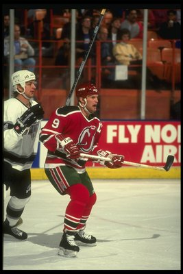 1990-1991:  Leftwinger Kirk Muller of the New Jersey Devils. Mandatory Credit: Ken Levine  /Allsport