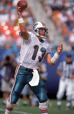 19 Sep 1999:  Dan Marino #13 of the Miami Dolphins passes the ball during the game against the Arizona Cardinals at the Pro Player Stadium in Miami, Florida. The Dolphins defeated the Cardinals 19-16. Mandatory Credit: Andy Lyons  /Allsport