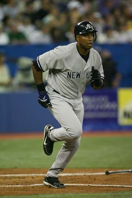 TORONTO - JULY 22:  Outfielder Bernie Williams #51 of the New York Yankees runs the baseline during the game against the Toronto Blue Jays on July 22, 2006 at the Rogers Centre in Toronto, Canada.  The Yankees won 5-4.  (Photo by Harry How/Getty Images)