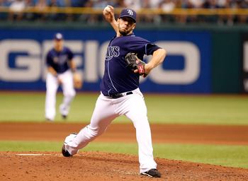 ST PETERSBURG, FL - APRIL 30:  Pitcher James Shields #33 of the Tampa Bay Rays pitches against the Los Angeles Angels of Anaheim during the game at Tropicana Field on April 30, 2011 in St. Petersburg, Florida.  (Photo by J. Meric/Getty Images)