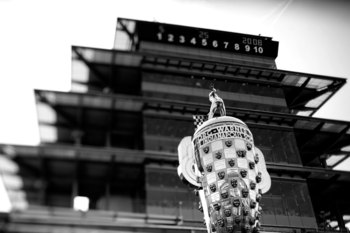 INDIANAPOLIS - MAY 25:  The Borg-Warner Trophy sits on pit lane before the start of the IndyCar Series 92nd running of the Indianapolis 500 at Indianapolis Motor Speedway on May 25, 2008 in Indianapolis, Indiana.  (Photo by Jonathan Ferrey/Getty Images)
