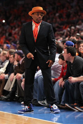 NEW YORK, NY - APRIL 24:  Director Spike Lee attends in Game Four of the Eastern Conference Quarterfinals between the New York Knicks and the Boston Celtics during the 2011 NBA Playoffs on April 24, 2011 at Madison Square Garden in New York City. NOTE TO