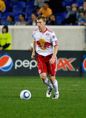 HARRISON, NJ - MAY 15: Tim Ream #5 of the New York Red Bulls controls the ball against Chivas USA during the game at Red Bull Arena on May 15, 2011 in Harrison, New Jersey. (Photo by Andy Marlin/Getty Images)