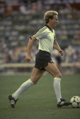 1970:  Karl- Heinz Rummenigge of West Germany in action.  \ Mandatory Credit: Allsport UK /Allsport