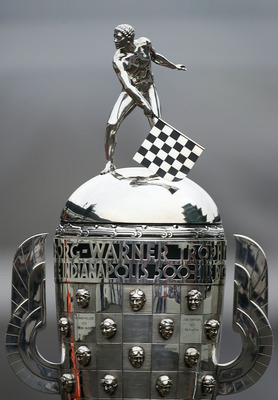 INDIANAPOLIS - MAY 28:  A detail of the Official Borg Warner Trophy during the trophy presentation for winning the IRL IndyCar Series 91st running of the Indianapolis 500 at the Indianapolis Motor Speedway on May 28, 2007 in Indianapolis, Indiana.  (Photo