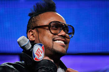 DALLAS, TX - FEBRUARY 03:  apl.de.ap of the Black Eyed Peas attends a press conference at the Super Bowl XLV media center on February 3, 2011 in Dallas, Texas. The Black Eyed Peas will perform during the Bridgestone Super Bowl XLV halftime show on Februar