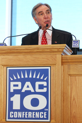SALT LAKE CITY, UT - JUNE 17: President of the University of Utah Michael Young talks after the university was admitted to the PAC-10 June 17, 2010 in Salt Lake City, Utah. The University of Utah was invited to join the PAC-10 for the 2011-12 athletic yea