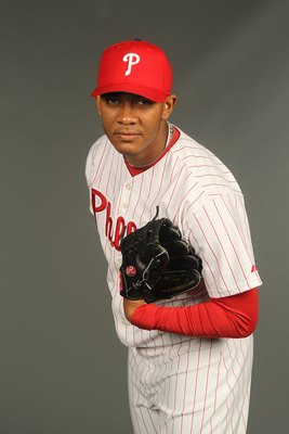 CLEARWATER, FL - FEBRUARY 24:  J.C. Ramirez #66 of the Philadelphia Phillies poses for a photo during Spring Training Media Photo Day at Bright House Networks Field on February 24, 2010 in Clearwater, Florida.  (Photo by Nick Laham/Getty Images)
