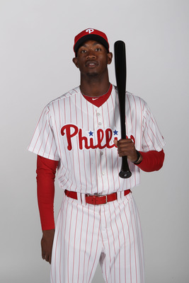 CLEARWATER, FL - FEBRUARY 22:  Domonic Brown #9 of the Philadelphia Phillies poses for a photo during Spring Training Media Photo Day at Bright House Networks Field on February 22, 2011 in Clearwater, Florida.  (Photo by Nick Laham/Getty Images)