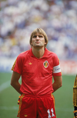 Belgian captain Jan Ceulemans before the World Cup Semi-final match against Argentina at the Estadio Azteca, Mexico City, 25th June 1986. Argentina won 2-0. (Photo by Michael King/Getty Images)