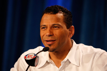 TAMPA, FL - JANUARY 31:  Rod Woodson answers questions from the media during the The Pro Football Hall of Fame Class of 2009 press conference at the Tampa Convention Center on January 31, 2009 in Tampa, Florida.  (Photo by Streeter Lecka/Getty Images)