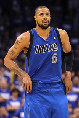 OKLAHOMA CITY, OK - MAY 21:  Tyson Chandler #6 of the Dallas Mavericks looks on while taking on the Oklahoma City Thunder in Game Three of the Western Conference Finals during the 2011 NBA Playoffs at Oklahoma City Arena on May 21, 2011 in Oklahoma City,