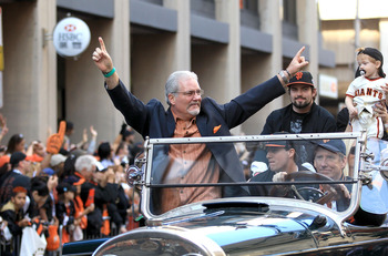 Giants' GM Brian Sabean Enjoys The Victory Parade