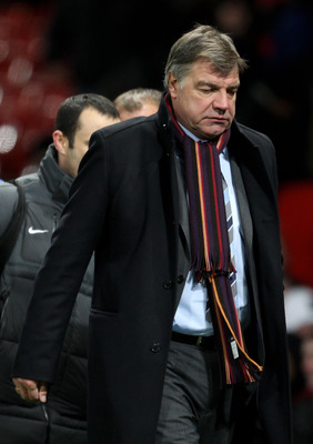 MANCHESTER, ENGLAND - NOVEMBER 27:  Blackburn Rovers Manager Sam Allardyce heads for the dressing room at the end of the Barclays Premier League match between Manchester United and Blackburn Rovers at Old Trafford on November 27, 2010 in Manchester, Engla