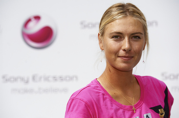 MADRID, SPAIN - APRIL 28: Maria Sharapova attends Sony Ericsson challenge at Plaza del Callao on April 28, 2011 in Madrid, Spain.  (Photo by Manuel Queimadelos Alonso/Getty Images)