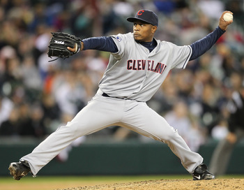 SEATTLE - APRIL 10:  Relief pitcher Tony Sipp #46 of the Cleveland Indians pitches against the Seattle Mariners at Safeco Field on April 10, 2011 in Seattle, Washington. The Indians defeated the Mariners 6-4. (Photo by Otto Greule Jr/Getty Images)