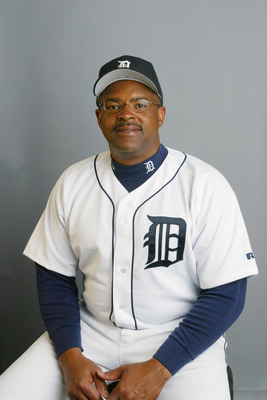 LAKELAND, FL- FEBRUARY 23:  Leon Durham of the Detroit Tigers poses during Media Day on February 23, 2003 at Tigertown  in Lakeland, Florida. (Photo by Rick Stewart/Getty Images)