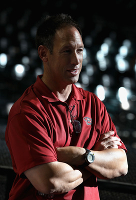 PHOENIX, AZ - MAY 08:  Special Assistant to the President & CEO Luis Gonzalez of the Arizona Diamondbacks stands on the field before the MLB game against the St Louis Cardinals at Chase Field on May 8, 2012 in Phoenix, Arizona.  (Photo by Christian Peters